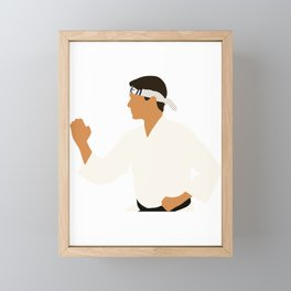 Daniel Larusso Karate Kid movie Framed Mini Art Print