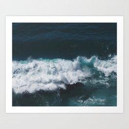 Crashing Waves Heart Art Print