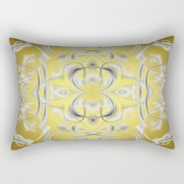 silver Digital pattern with circles and fractals artfully colored design for house and fashion Rectangular Pillow