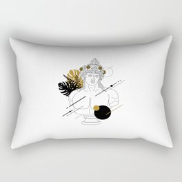 Dionysus (Bacchus). Creative Illustration In Geometric And Line Art Style Rectangular Pillow