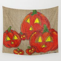lantern Wall Tapestries featuring Lantern Patch by KristenOKeefeArt