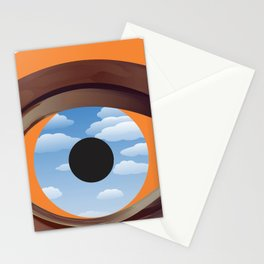magritte's eye Stationery Cards