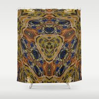 hippy Shower Curtains featuring Hippy by RingWaveArt