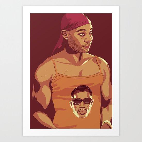 True Blood - Lafayette/Blade Art Print