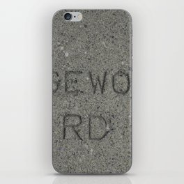 Rosewood Rd sidewalk stamp iPhone Skin