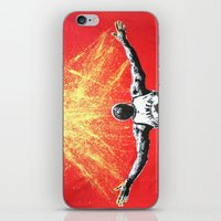lebron iPhone & iPod Skins featuring LeBron Gold by M.J.P. STENCILS