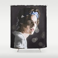 harry Shower Curtains featuring Harry by Judit Mallol