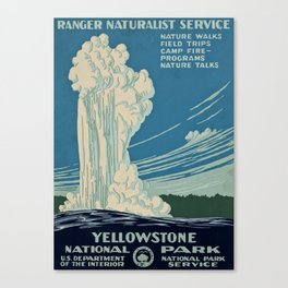 Yellowstone Works Progress Administration Canvas Print