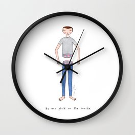 He was plaid on the inside Wall Clock