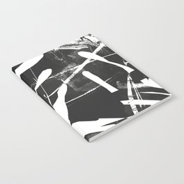 Monstera Leaf Black Notebook