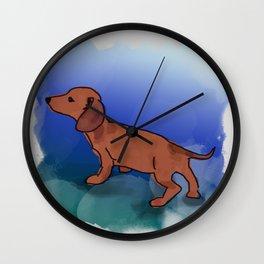 I Love my Dachshund Wall Clock