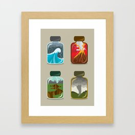 Disaster In A Jar Framed Art Print
