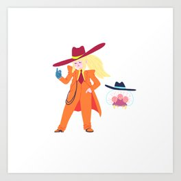 Zoot Suit Samus Art Print