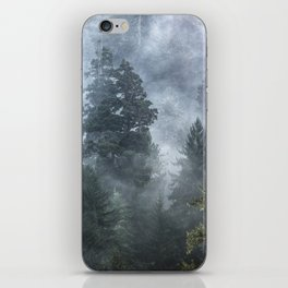 Smoky Redwood Forest Foggy Woods - Nature Photography iPhone Skin