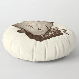 Elephant Overcoming Your Mice Phobia Floor Pillow