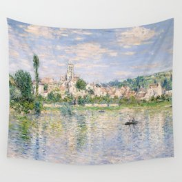 Vetheuil in Summer 1880 by Claude Monet Wall Tapestry