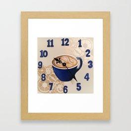 Coffee o' Clock Framed Art Print