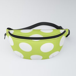 Mid Century Modern Polka Dots 564 Chartreuse Green Fanny Pack