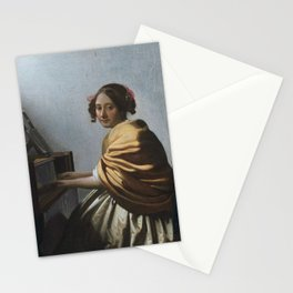 "Johannes Vermeer ""A Young Woman Seated at the Virginal"" Stationery Cards"
