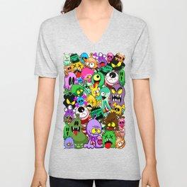 Monsters Doodles Characters Saga Unisex V-Neck