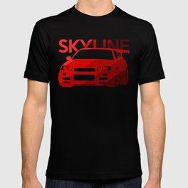 Nissan Skyline GT-R  - classic red - T-shirt