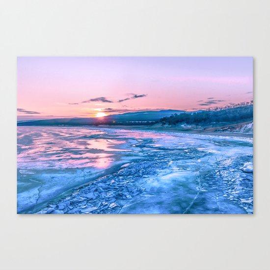Baikal sunrise Canvas Print