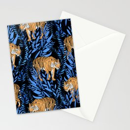 Tiger and leaf pattern Stationery Cards