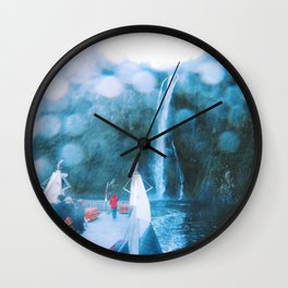 Cruising Milford Sound Wall Clock