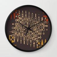 ethnic Wall Clocks featuring Ethnic by Sonia Marazia