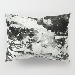 White black marble Pillow Sham