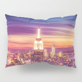 New York City Dusk Sunset Pillow Sham