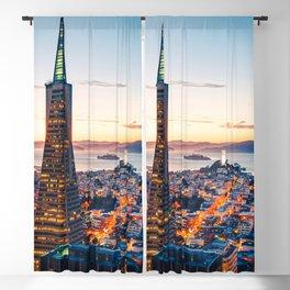 San Francisco Skyline Blackout Curtain