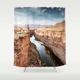 on top of the canyonland Shower Curtain