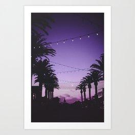Tropical Summer Night Art Print