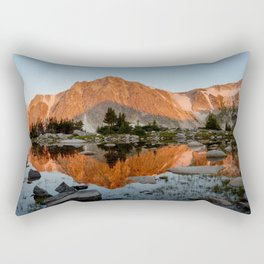 Medicine Bow Peak Rectangular Pillow