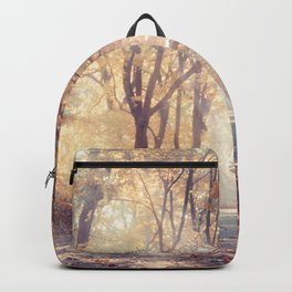 Astronaut In Autumn Forest Backpack