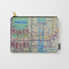 New York City, NYC Map, Subway, Travel Carry-All Pouch