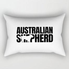 Australian Shepherd Breed Lover Dark Rectangular Pillow
