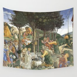 """Sandro Botticelli """"Youth of Moses"""", Sistine Chapel. Wall Tapestry"""