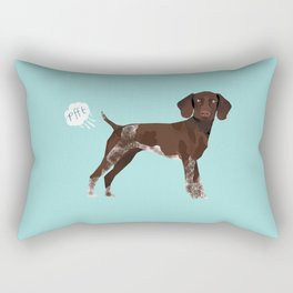 german shorthair pointer funny farting dog breed gifts Rectangular Pillow