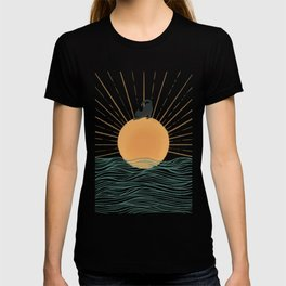 Good Morning Meow 7 Sunny Day Ocean  T-shirt