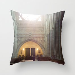 Diptych of St. Vitus Cathedral: Prague, Czech Republic.  Throw Pillow