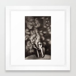 Composition in Black Framed Art Print
