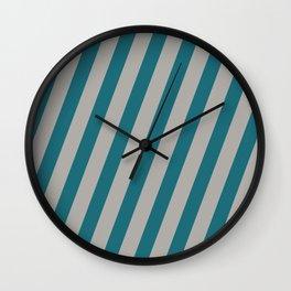 Royal Stripes (Quetzal Green) Wall Clock