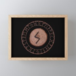 Sowilo Elder Futhark Rune Success, goals achieved, honor. The life-force, health, victory Framed Mini Art Print