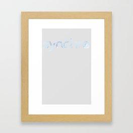 Wave2 Framed Art Print
