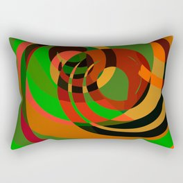Graffiti design cool abstract mottled pattern of red and green Rectangular Pillow