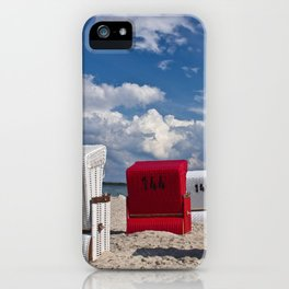 the red beach chair iPhone Case