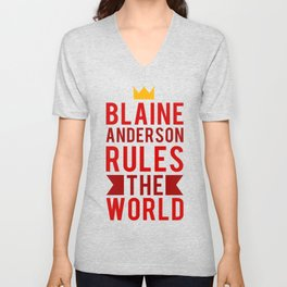 Blaine Anderson Rules The World Unisex V-Neck