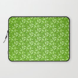 Nature Lover - green leafy pattern in heart, abstract digital art Laptop Sleeve